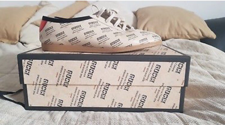 92dac6e3c13 ... with the Gucci Men s Off-white All-over Logo Stamp Shirt few sizes left  and the GUCCI Falacer Gucci Invite Print Sneaker in select sizes info in bio  or ...