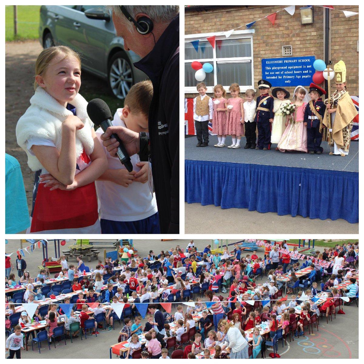 TV and radio descended on @EllesmerePS to give them a taste of the #royalwedding limelight! CLICK>> https://t.co/7JMME9Hoqk