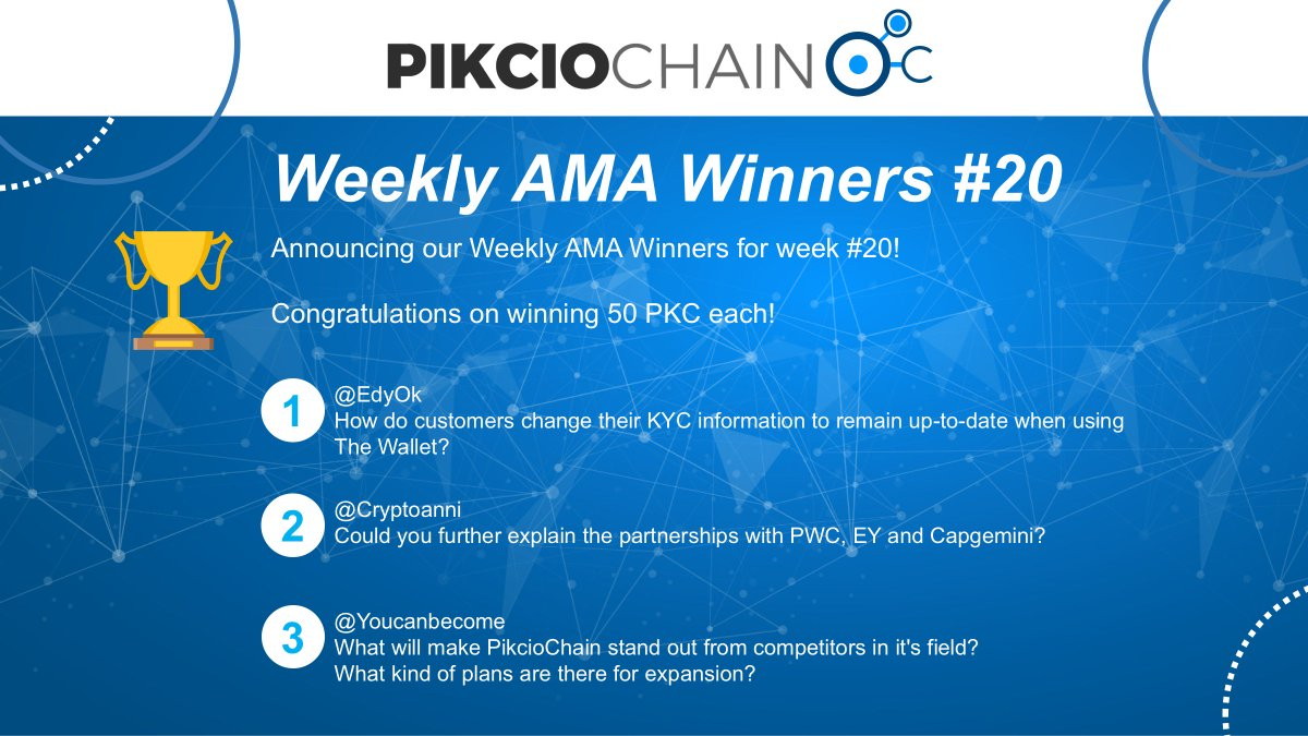 We love it when our community digs deep into our #blockchain based, #GDPRCompliant #personaldata solution! Congratulations go out to this weeks winners!   Make sure you check out this weeks round of Q&amp;A&#39;s at  https:// youtu.be/iqojKZx1gmQ  &nbsp;  .  $NEO $PKC<br>http://pic.twitter.com/cK8gj3MgWd