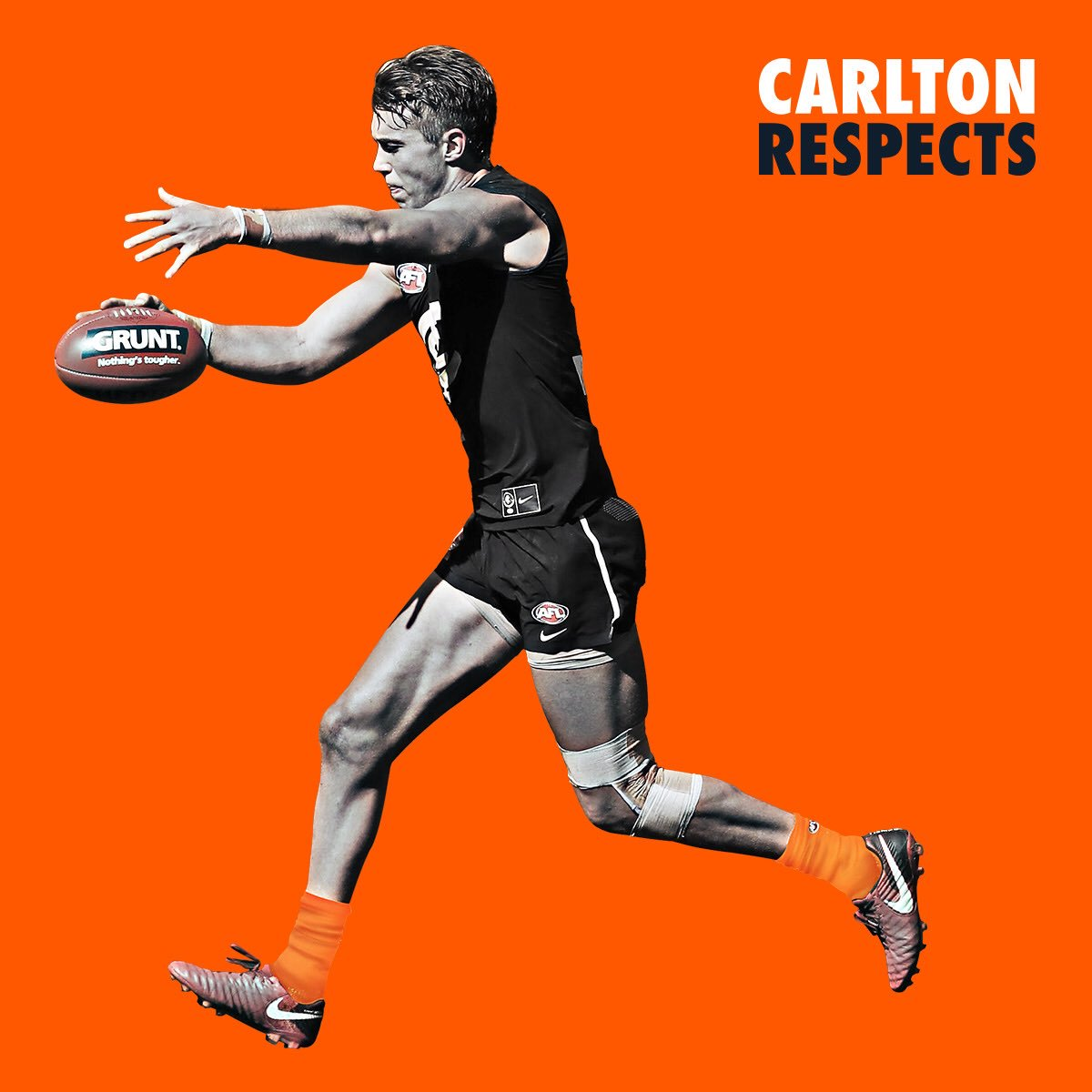 Ill be wearing orange socks tomorrow for our Carlton Respects game - Hope to see you at the G tomorrow! #CarltonRespects