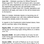 Image for the Tweet beginning: Exciting days ahead! $DIG $NAM $ORE