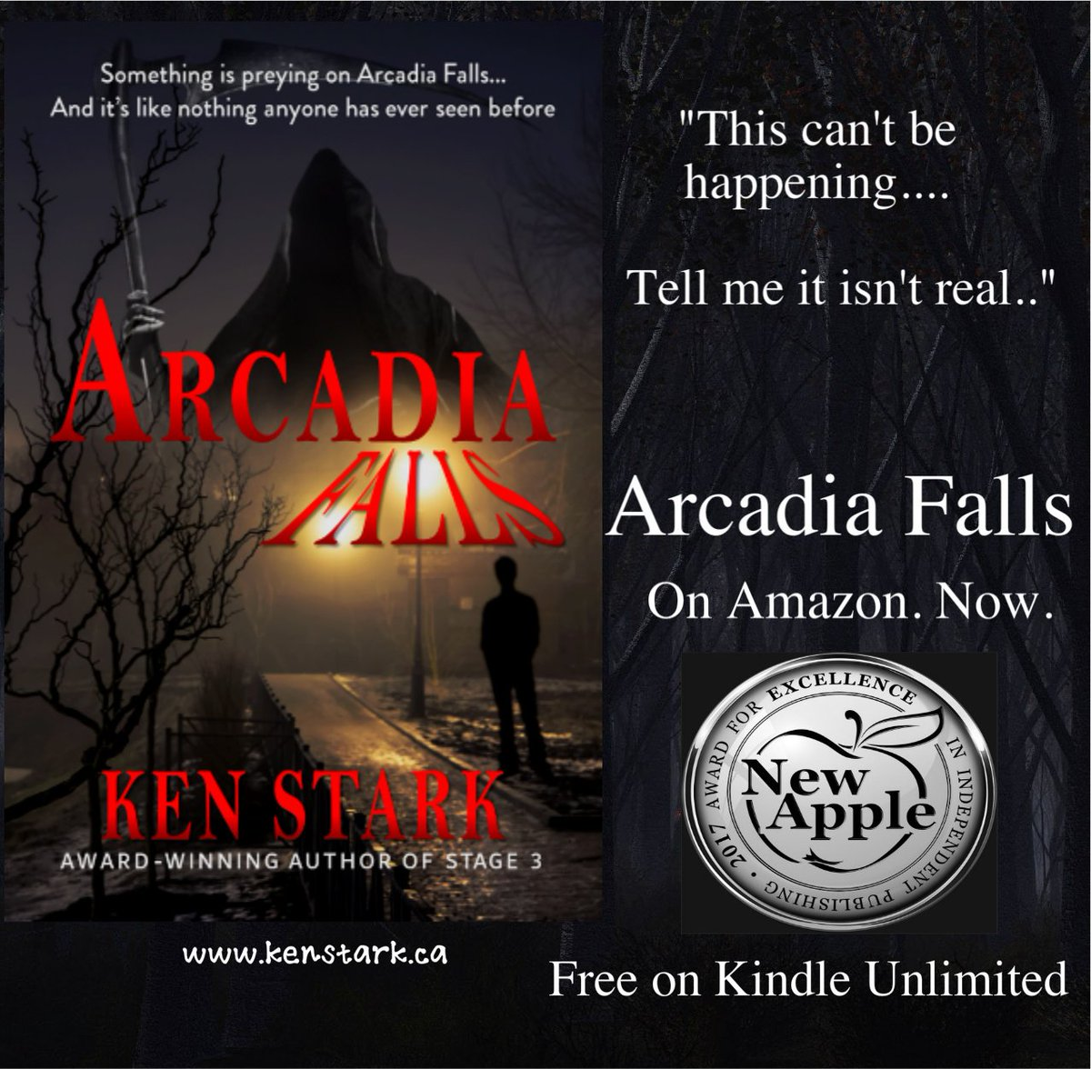 Something is preying on Arcadia Falls, and it&#39;s like nothing anyone has ever seen before....   https://www. amazon.com/dp/B077VVQVL4  &nbsp;     #horror #mystery #monster #thriller #IARTG @NewAppleAwards Read #ArcadiaFalls for #FREE on #KindleUnlimited<br>http://pic.twitter.com/vIZN5AZEJb