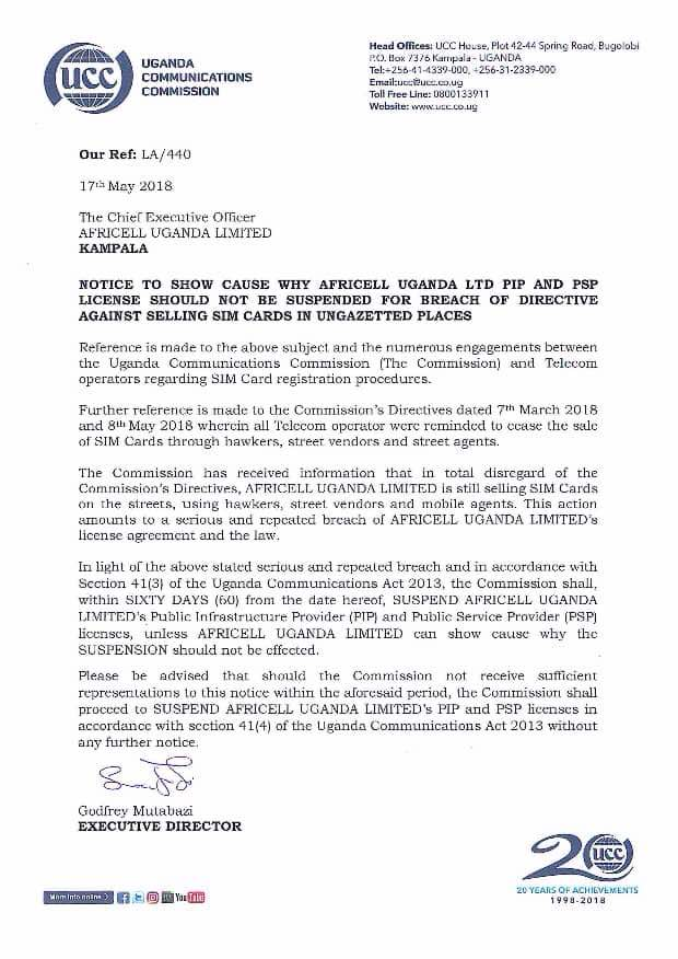 Douglas Onyango On Twitter Regulator Uccofficial Sends