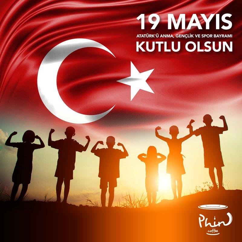 19 Mayıs Atatürk'ü Anma, Gençlik ve Spor Bayramı Kutlu Olsun! #Phincoffee #Coffee #BenimCevahirim #İstanbul