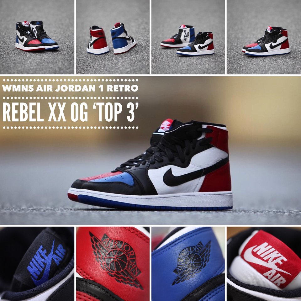 b0bd606feb070 The  Top 3  WMNS Air Jordan 1 Rebel XX OG is available now exclusively at  The Streets at Southpoint  tafkicksnc store!pic.twitter.com qh8IM1JVFu