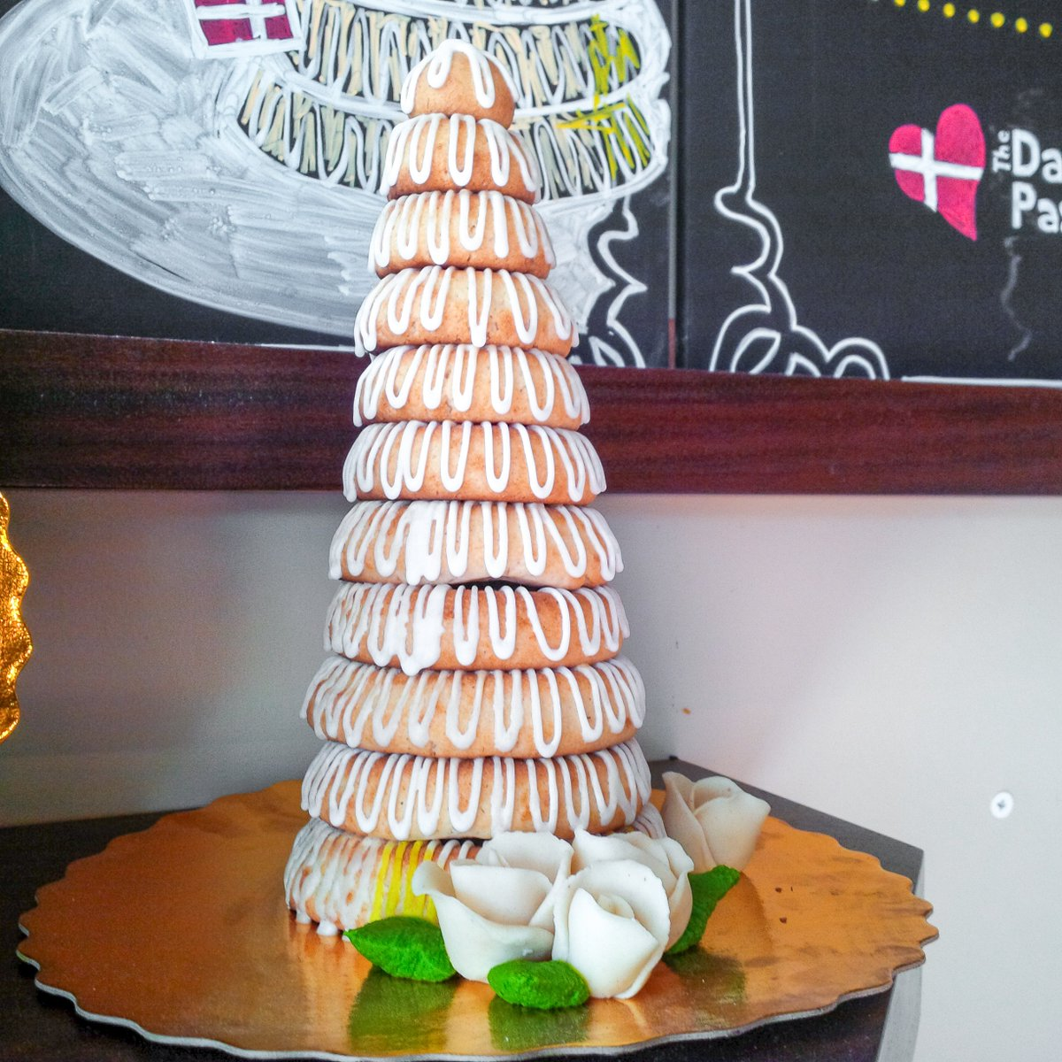 A Traditional Danish Wedding Cake From Us Please Call If You Are Interested In Placing An