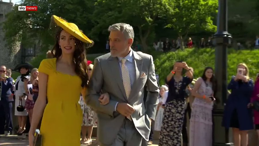 George and Amal Clooney at the Royal Wedding DdjLcLJVMAAPpEw?format=jpg&name=900x900