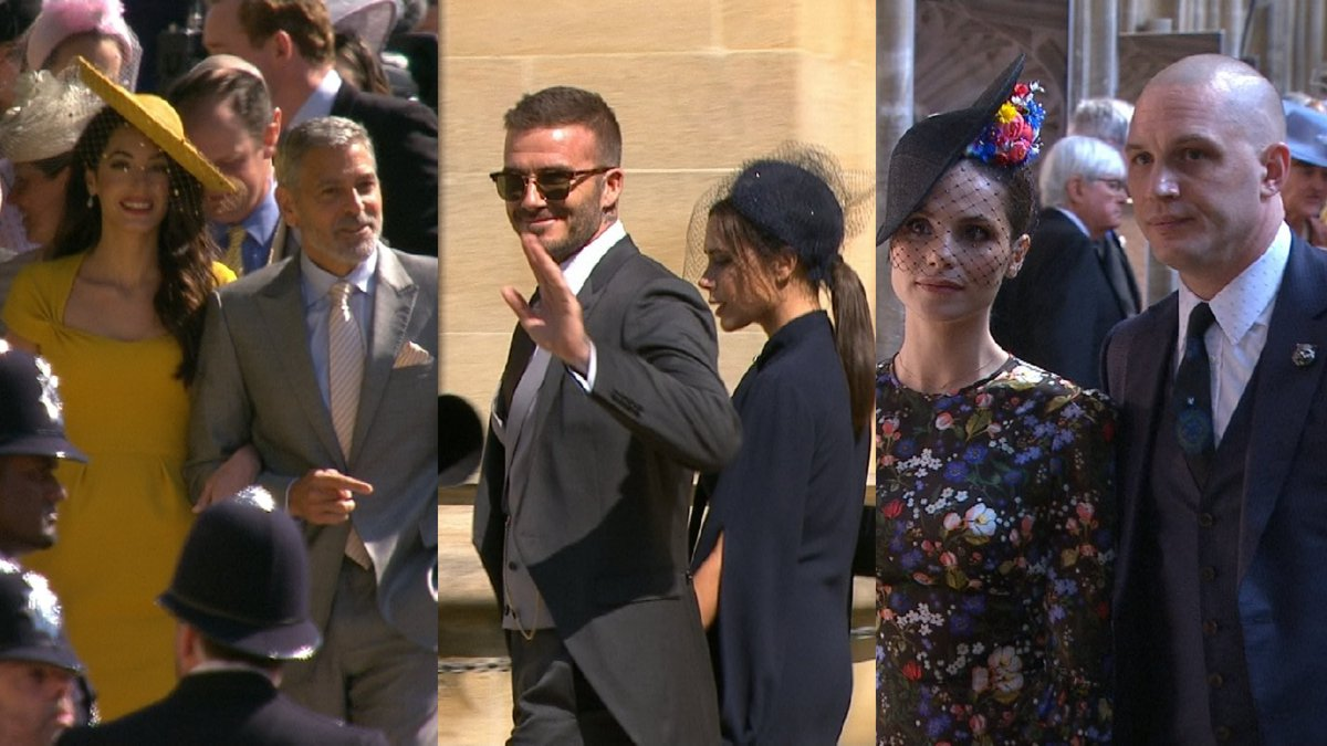 Tom Hardy Royal Wedding.Itv News On Twitter Celebrities Including David And Victoria
