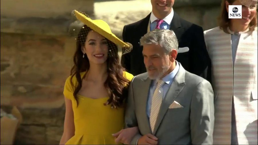 George and Amal Clooney at the Royal Wedding DdjQoA5VwAAIsNH?format=jpg&name=900x900