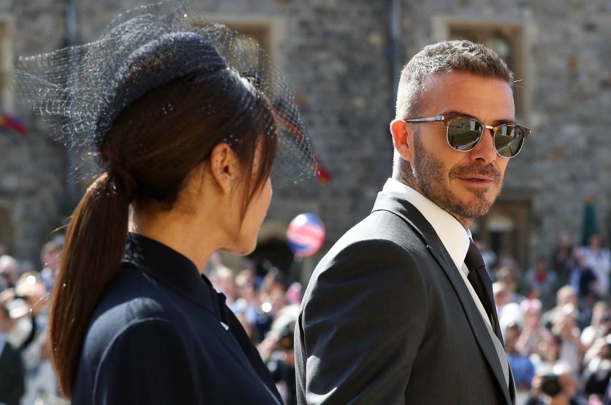 David Beckham has turned up for The Royal Wedding looking 😎