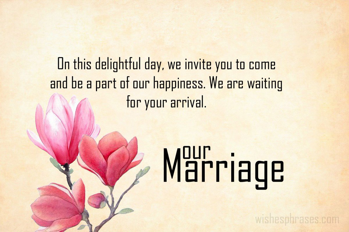 "WishesPhrases on Twitter: ""Marriage Invitation Message to Boss"