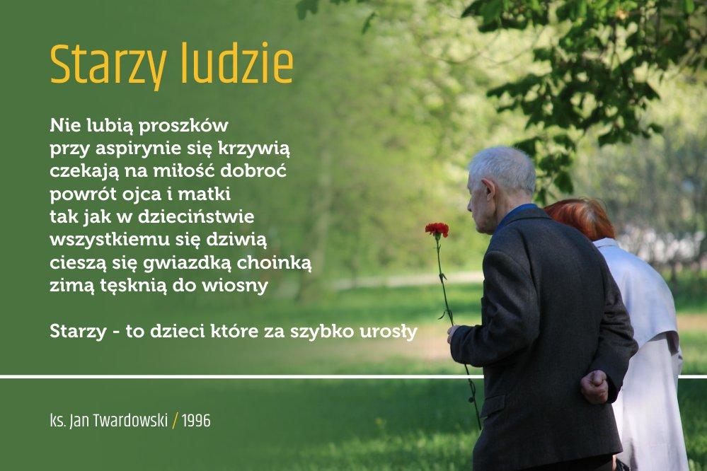 Twardowskipoezjaeu No Twitter Starzyludzie Wiersz