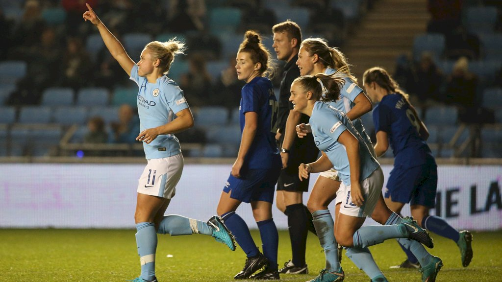 💥 @lilkeets bagged a late winner against her former club the last time we faced @EvertonLadies... #mancity