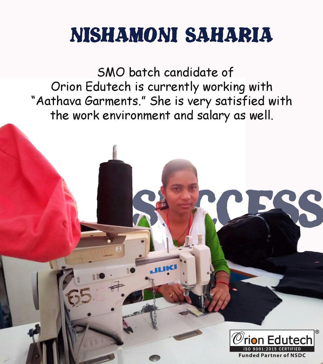 She Is Working With Aathava Garments SkillIndia MSDESkillIndia NSDCINDIA Dpradhanbjp Manish Kumar AnantkumarH RajeshAgrawal94