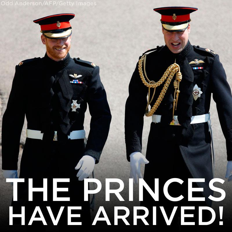 #PrinceHarry and #PrinceWilliam have arrived! Follow all the #RoyalWedding action: https://t.co/qWJKYA22MH