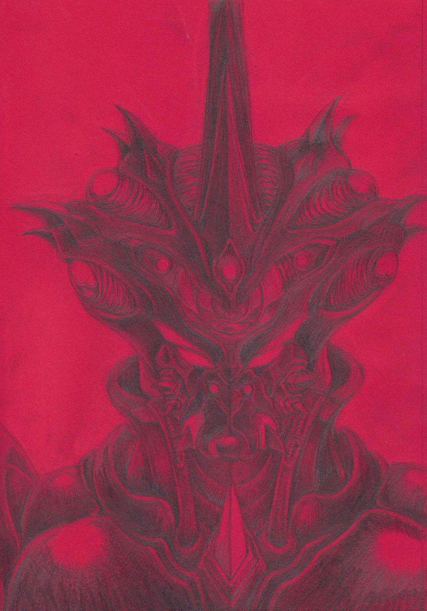 赤い色画用紙に描いたこのギガンテックダークは原稿として使えないことが判明して軽く凹んでいるorz あー、カラオケ行ってガイバー熱唱してぇなぁ・・・。
