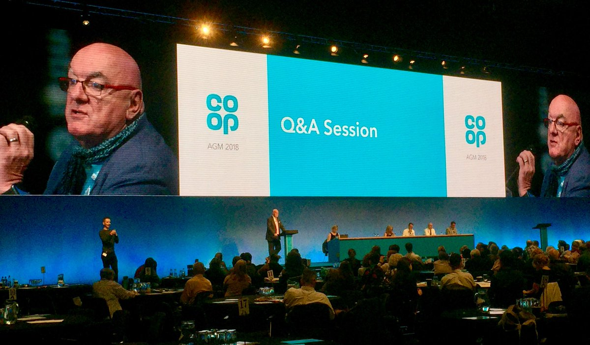 Great input from MemberPioneer @CoopCardiffW at #CoopAGM on work in #Cardiff bringing our @coopuk businesses together. Good work @ailsa_logan #OneCoop #TheCoopWay<br>http://pic.twitter.com/VYpSEgOVL8