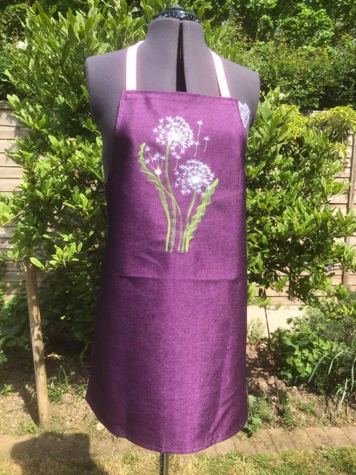Embroideres Studio On Twitter Kitchen Apron With Dandelions Free