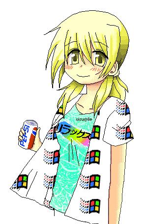 Miyako from Hidamari Sketch   Pixel art is really tiresome but rewarding, I really love doing retro pixel art that recall the nec pc98 art style of vn/games   please retweet  #pixelart #vaporwave #aesthetics #miyako #ひだまりスケッチ<br>http://pic.twitter.com/tTNU2HLcGn