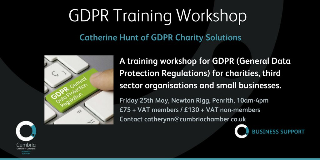 test Twitter Media - A training workshop for GDPR (General Data Protection Regulations) for charities, third sector organisations and small businesses, 25th May, Newton Rigg, Penrith - info & booking at https://t.co/X5HVI3naa6 https://t.co/7w95YWUXzM