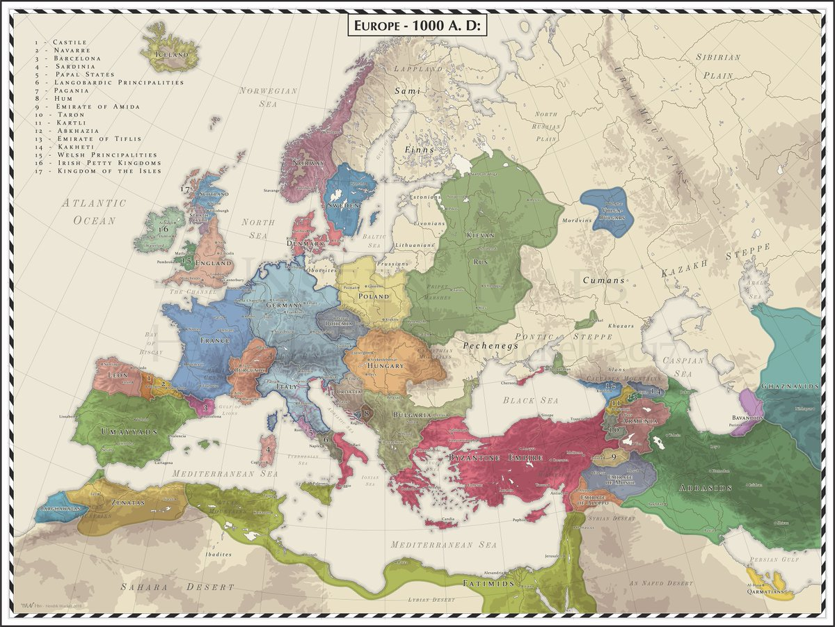 Onlmaps On Twitter Europe 1000 Ad Map Maps