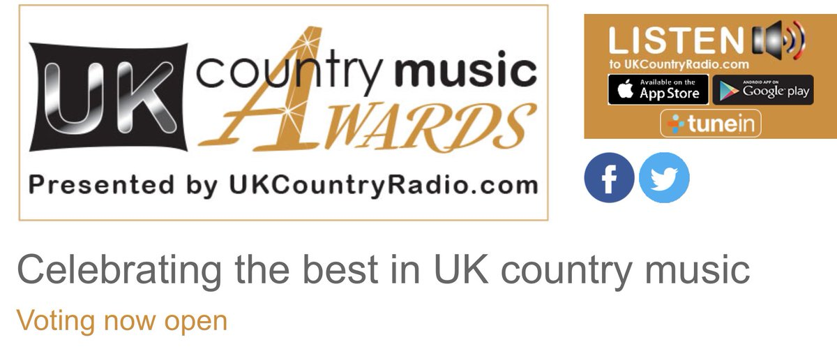 It would mean a lot to me and I would be so grateful if you would spare a moment to and vote for me for on this link.   It would be awesome if I could make the nomination stage ukcountrymusicawards.com/vote.php UK Country Artist Of The Year UK Female Country Singer Of The Year