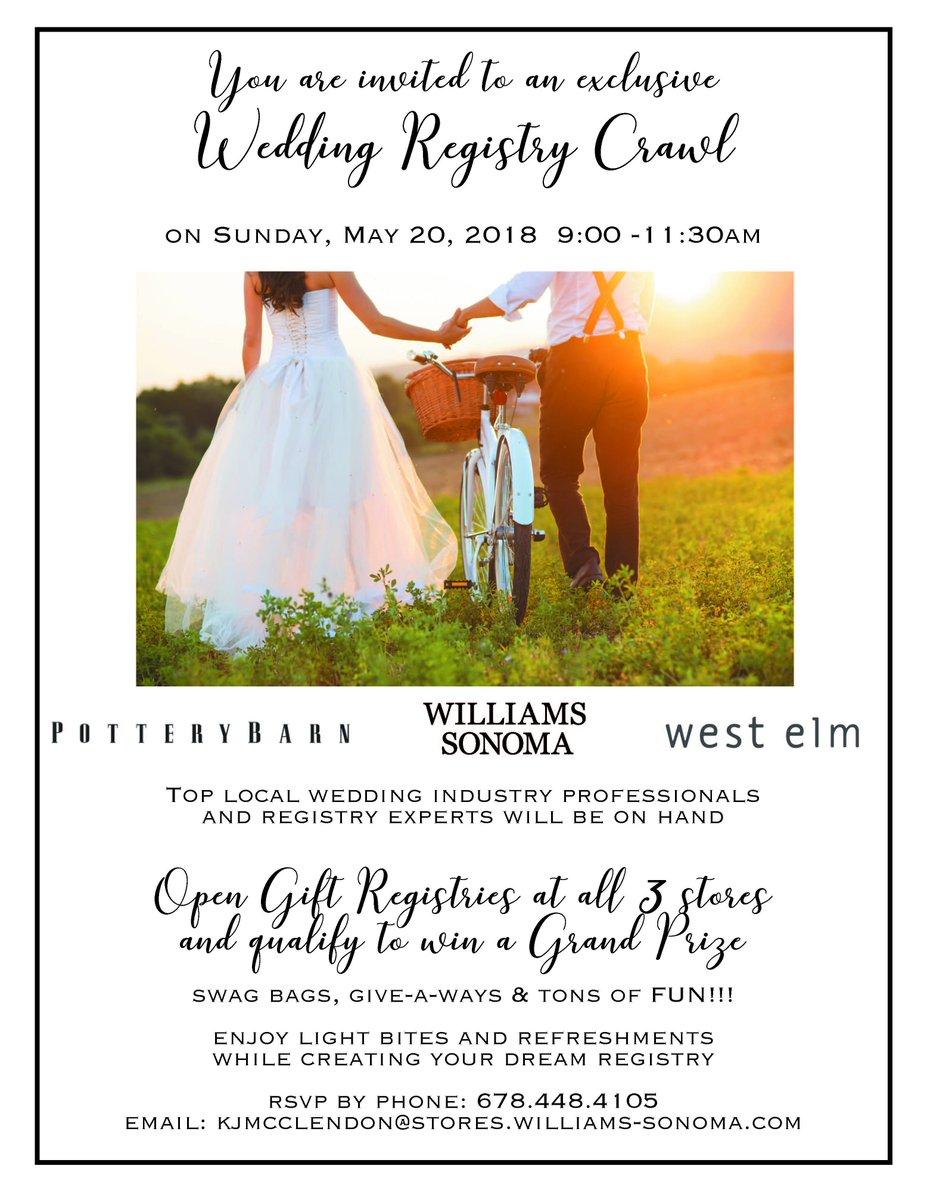 Williams Sonoma Wedding Registry.Pam Reddeman On Twitter Williams Sonoma Wedding Registry