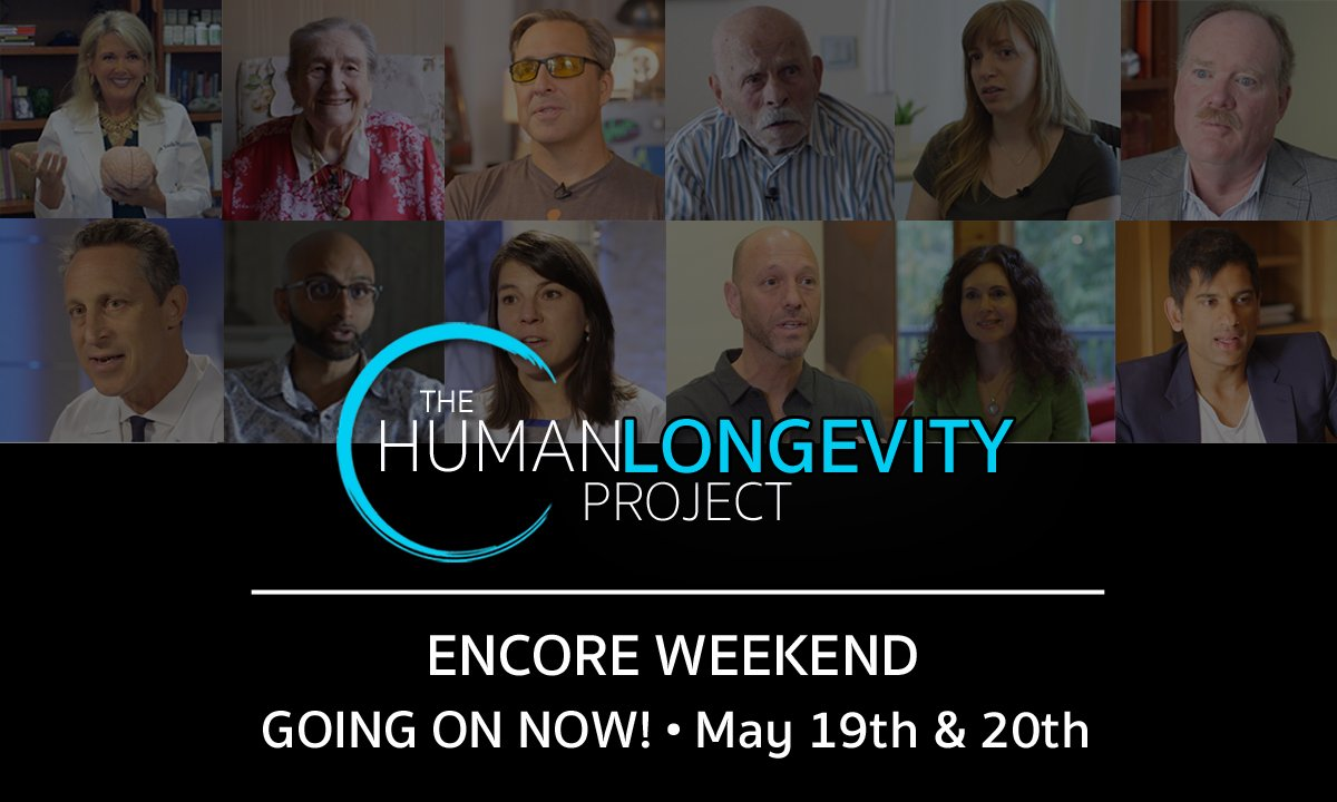 The Human Longevity Project is offering an encore weekend starting today. They have made all 9 episodes available to watch all day Saturday and Sunday, ending at 12am EST Sunday night. Jeffrey Smith is featured in Episode 4 of the series. Watch now: https://bit.ly/2KDARqE