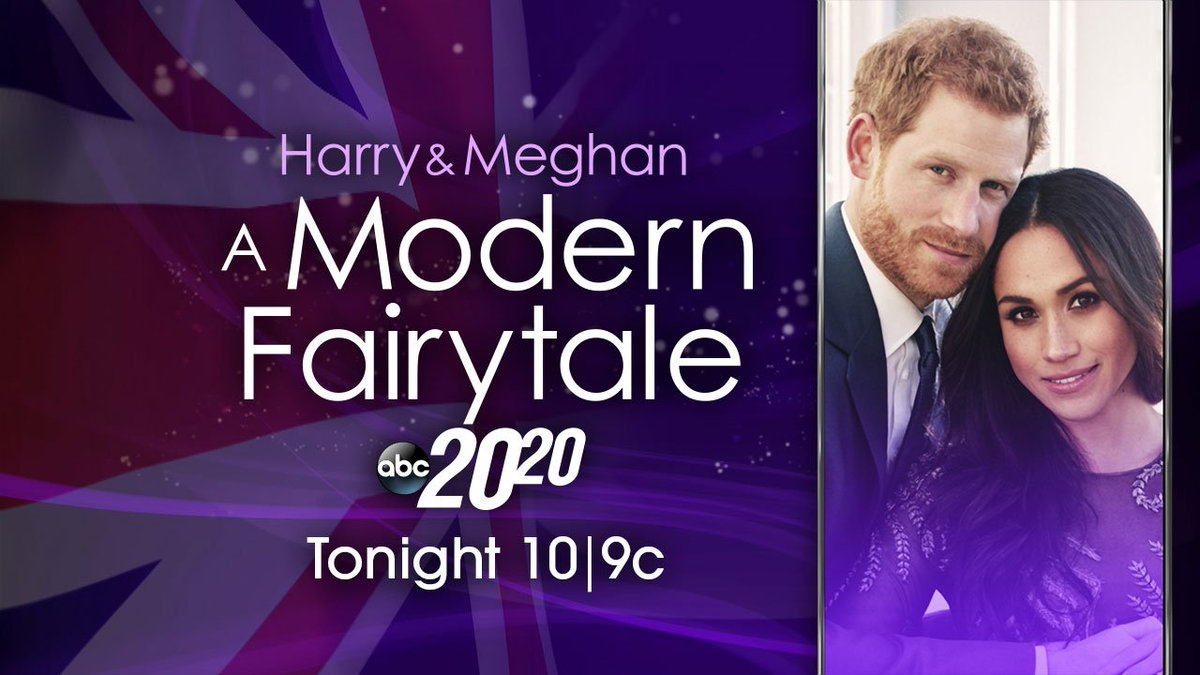 """TONIGHT: Don't miss a special @ABC2020 """"Harry & Meghan: A Modern Fairytale"""" with @DavidMuir & @DebRobertsABC anchoring from Windsor, starting at 10/9c on @ABC. abcn.ws/2wRO2Cl"""