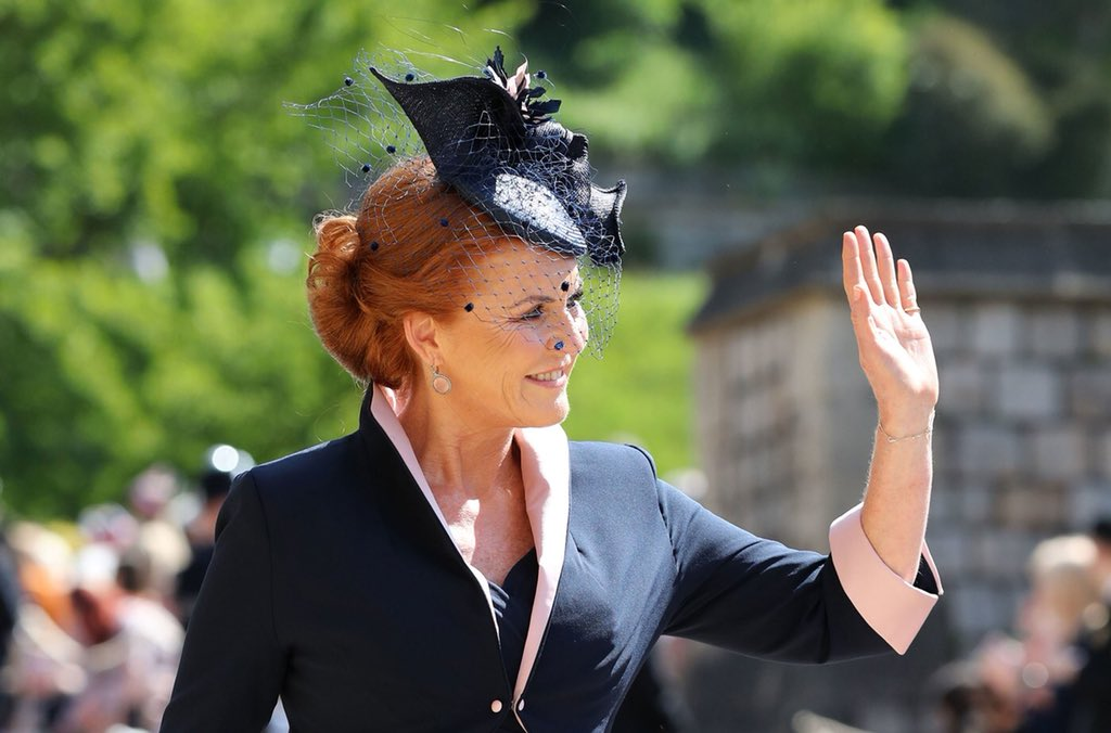 One of the most eye-catching moments of the royal wedding is seeing the  elaborate headwear worn by guests that include hats and fascinators. b1f95b4a354
