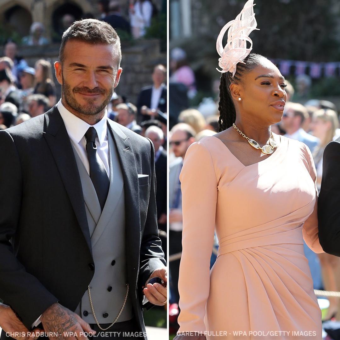 Serena Williams Royal Wedding.David Beckham And Serena Williams Showed Up In Style At The Royal