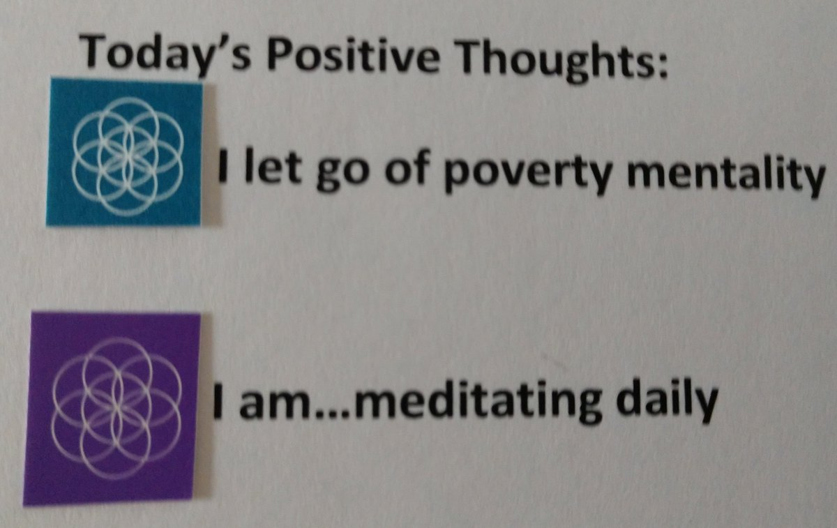 test Twitter Media - Today's Positive Thoughts: I let go of poverty mentality and I am...meditating daily. #affirmation https://t.co/stQ4elkEut