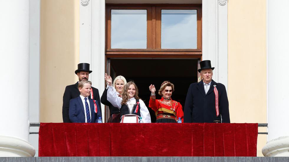 Image result for norwegian national day royal family