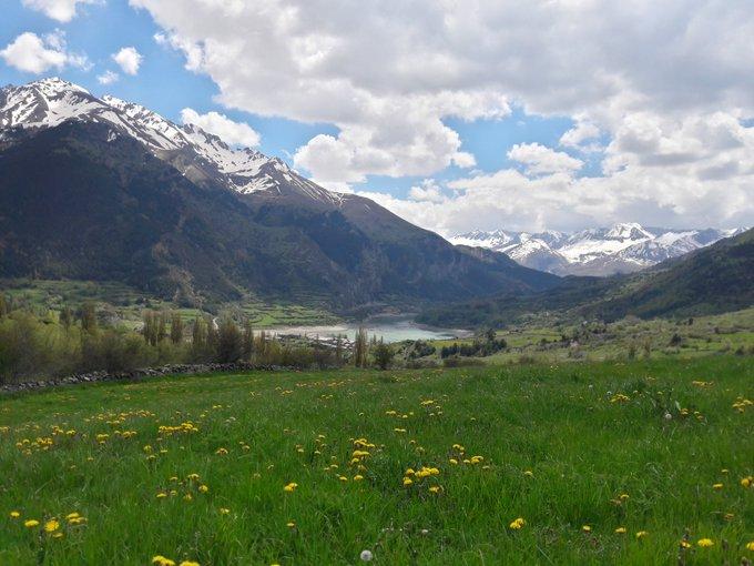 Primavera en Valle de Tena  🏔🌤🌻🌲  📷@HotelIzas