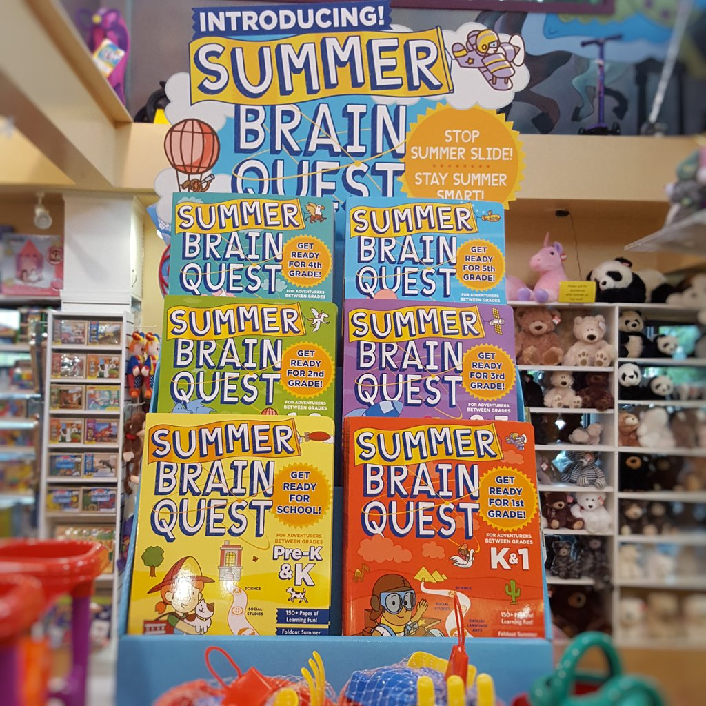 """Grandrabbits Toys on Twitter: """"Keep those brains working hard all summer long, Summer Brain Quest books are now available at all 3 Stores! Bring your completed workbook back to any location for"""