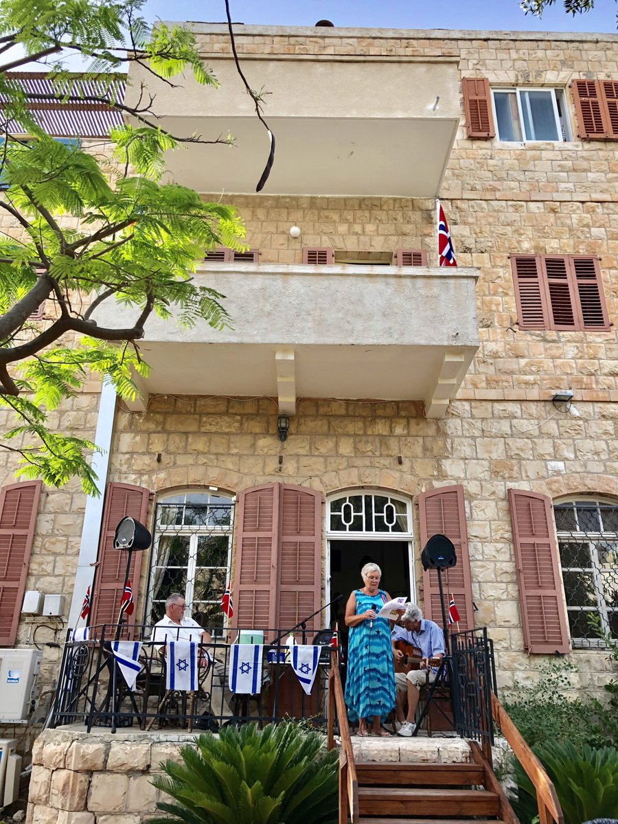 Thank you #BeitScandinavia for inviting me to celebrate Norway's constitution day with Norwegians in #Haifa; an amazing and friendly home for Scandinavian visitors to #Israel, decades of building bridges between the two countries  #17May <br>http://pic.twitter.com/wWgm1tV97r