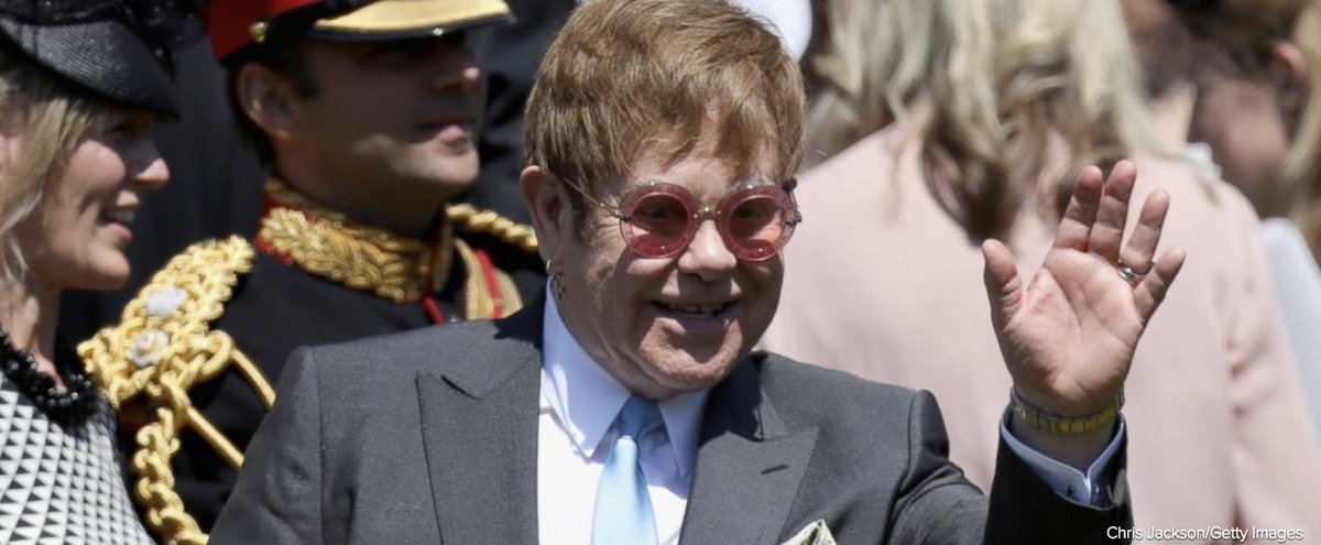 Sir Elton John performed at the lunchtime reception following the #RoyalWedding of Prince Harry and Meghan Markle, according to Kensington Palace. abcn.ws/2LfObCQ