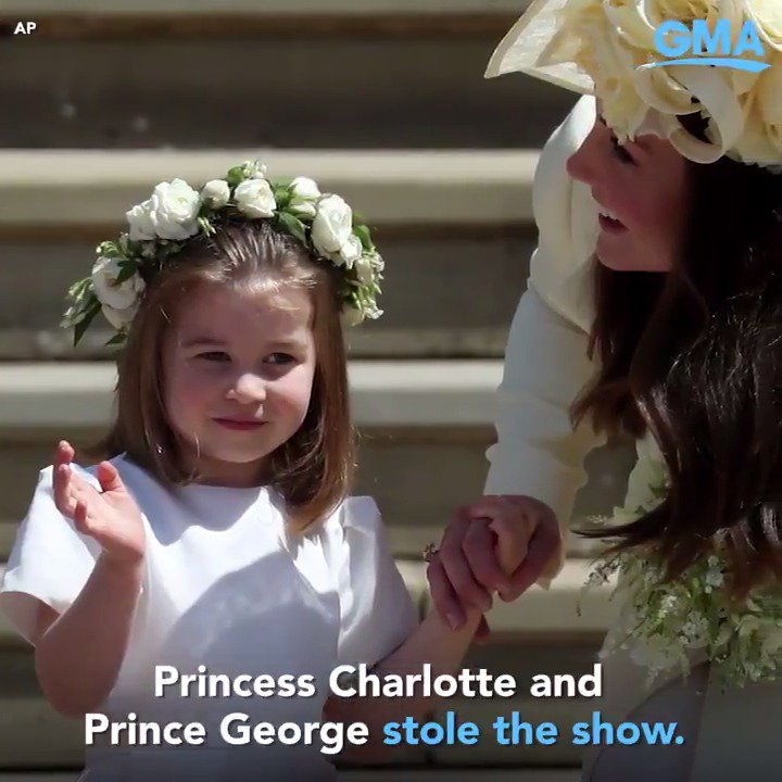 Prince George, Princess Charlotte and all the little bridesmaids and page boys stole the show at the #RoyalWedding! gma.abc/2KDZzqY