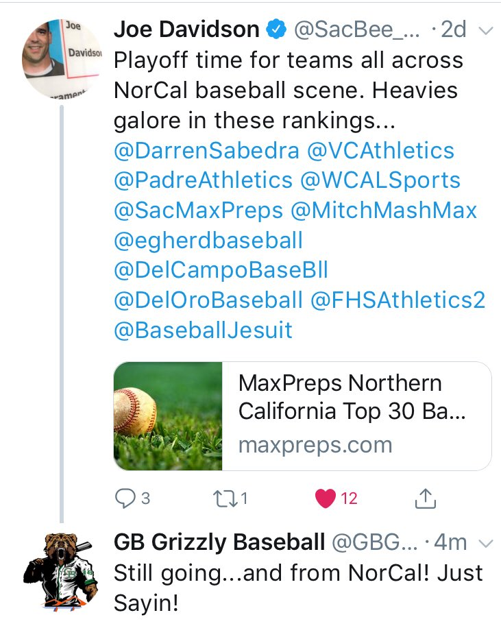 GB Grizzly Baseball on Twitter: