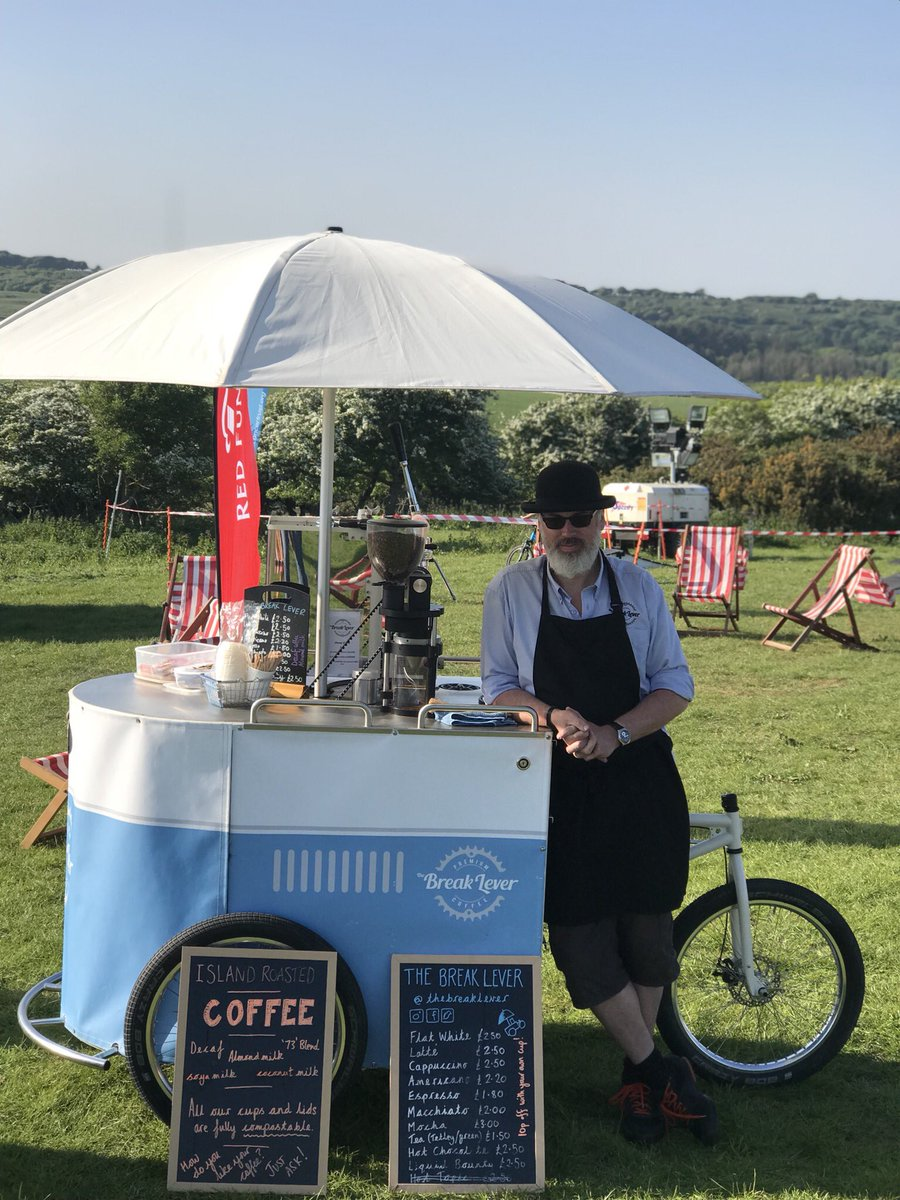 Come get the best coffee in town from the Break Lever @NiteRiderRunner ☕️ #trailfestival