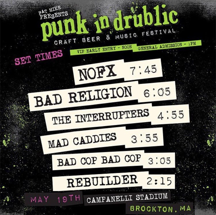 The Interrupters On Twitter Set Times For Punk In Drublic Fest