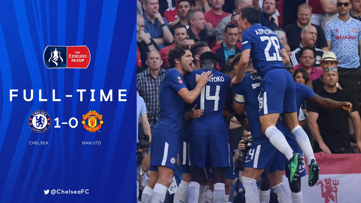 FULL-TIME: CHELSEA 1-0 MAN UTD!!!  🏆 WE ARE FA CUP WINNERS!!   #FACupFinal