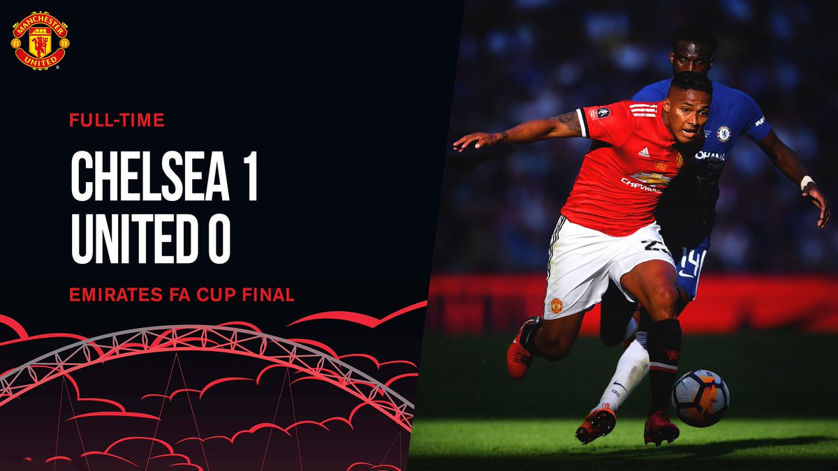 FT: Chelsea 1 #MUFC 0. The Reds miss out on this year's #EmiratesFACup.