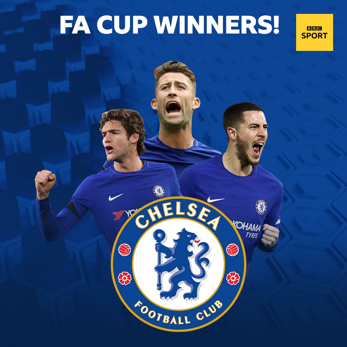 CHELSEA HAVE WON THE FA CUP! 🏆  Theyve beaten Man Utd 1-0.  Party time for the Blues 🎉  👉 bbc.in/2wSoWTG #FACupFinal #bbcfacup #CFC