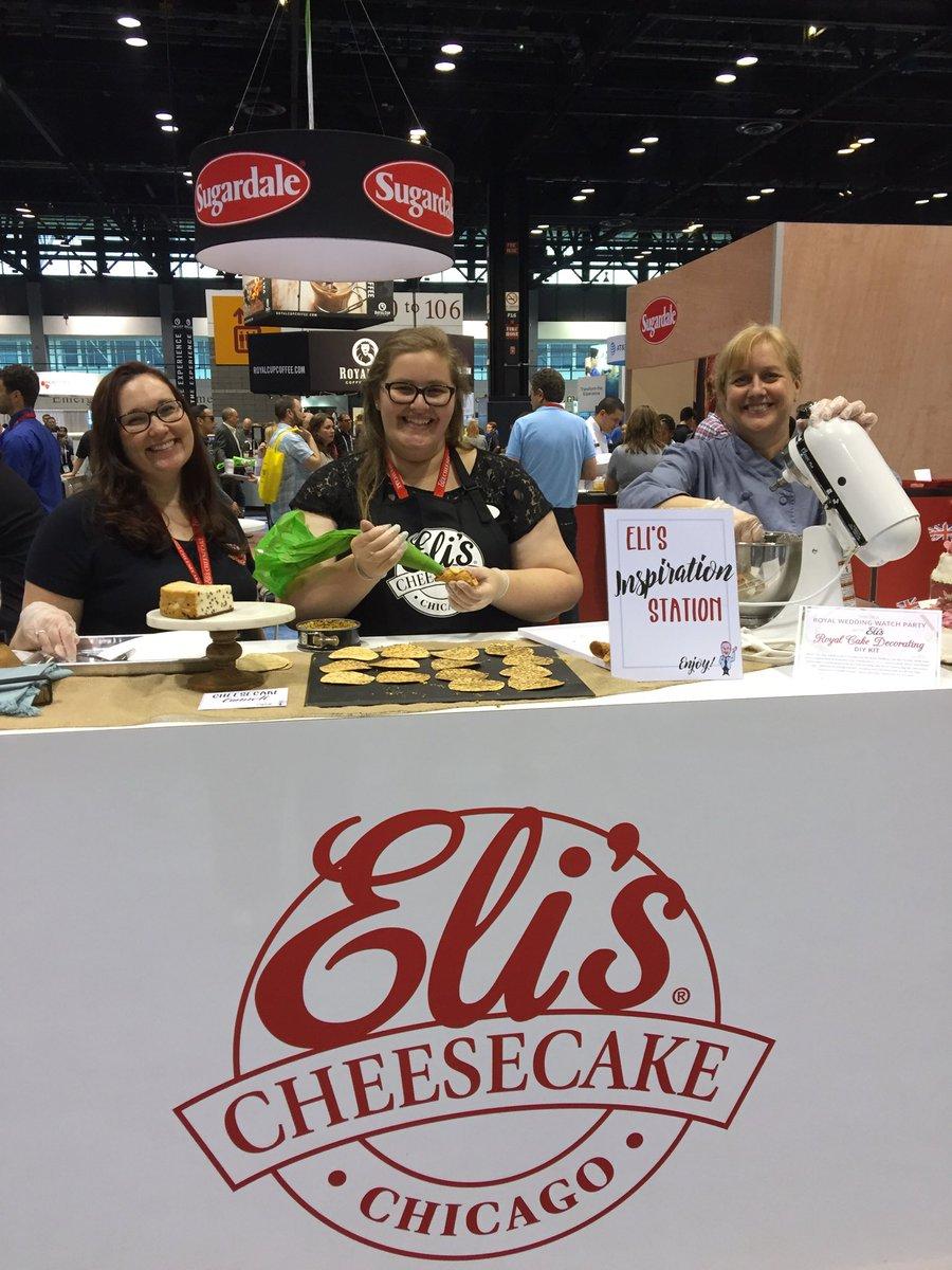 Creating #cheesecake cannoli @ElisCheesecake @NRAShowIntl booth 1624 #chicago #NRAShow18 #GottaGetElis