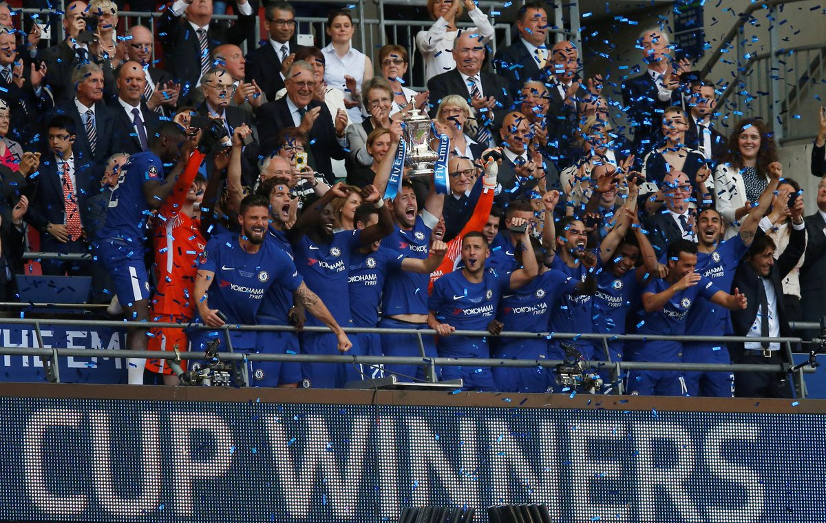 Congratulations @ChelseaFC - #FACup 2017/18 winners  🔵 🏆 🔵
