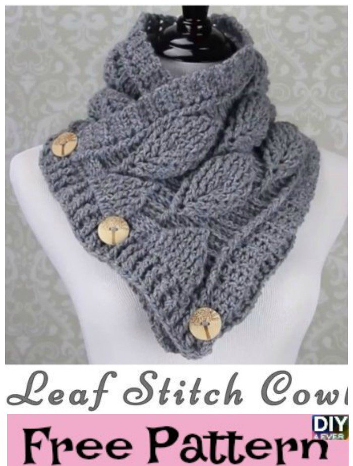 Beesdiy On Twitter Crochet Leaf Stitch Cowl Free Pattern