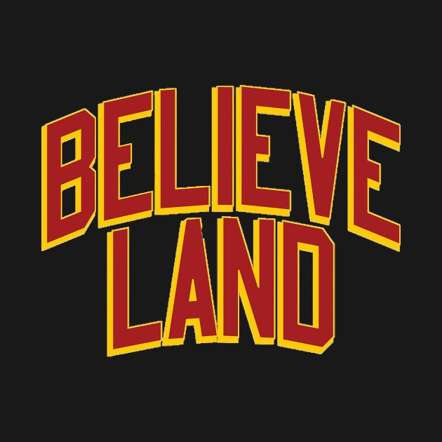 Never Underestimate The Power Of Believeland. Good Luck To @KingJames And The @cavs Tonight! WOOOOO!