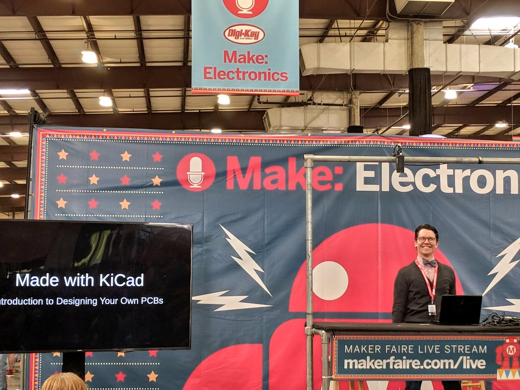 Osh Park On Twitter Come To The Makerfaire Make Electronics How Design Circuit Stage Now And Learn From Shawnhymel Boards With Kicad Pcb