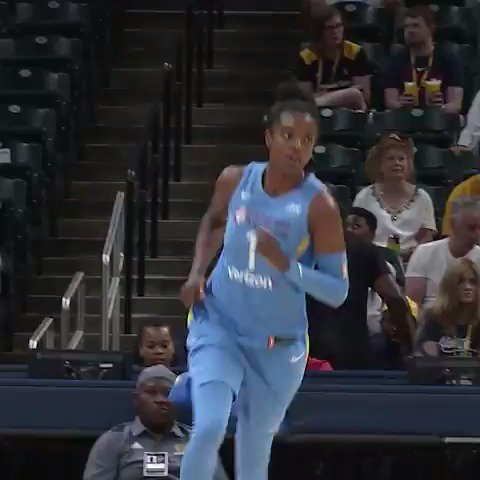 💎 Diamond in the Sky!  Rookie @DDDeshields scores 18 PTS in her debut as @WNBAChicagoSky get the win! #WatchMeWork